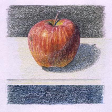 Oscar Tusquets Blanca  PINTOR  Dibujos  Varios  03 Manzana